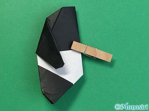 折り紙でパンダの折り方手順70