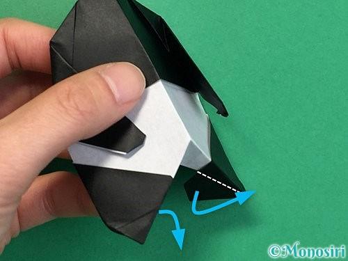 折り紙でパンダの折り方手順71