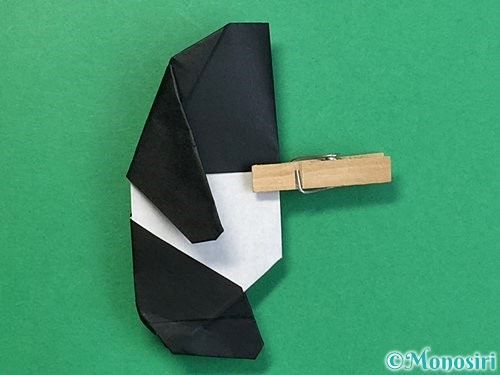 折り紙でパンダの折り方手順73