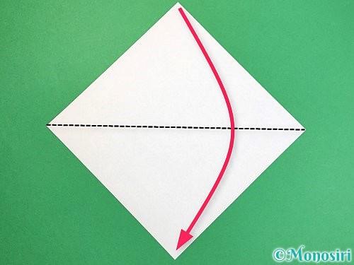 折り紙で貝の折り方手順1