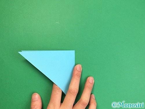 折り紙で貝の折り方手順5