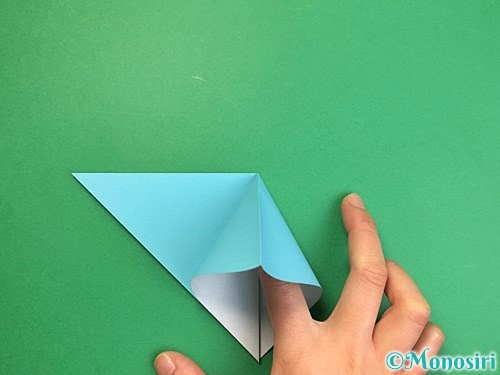 折り紙で貝の折り方手順6