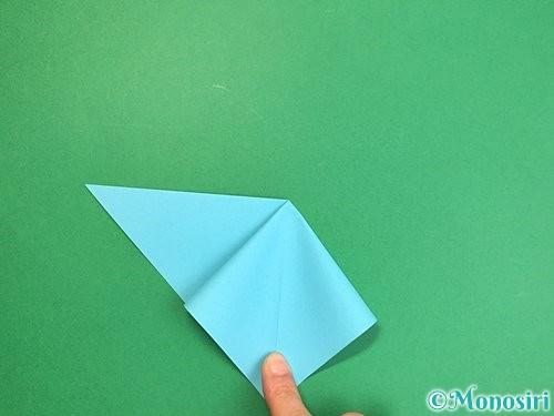 折り紙で貝の折り方手順7
