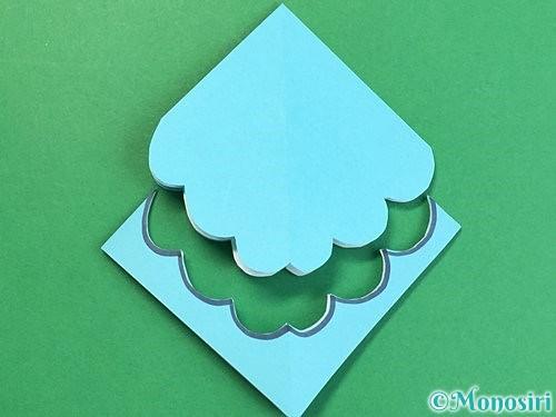 折り紙で貝の折り方手順11