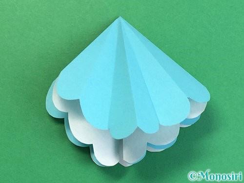 折り紙で貝の折り方手順13