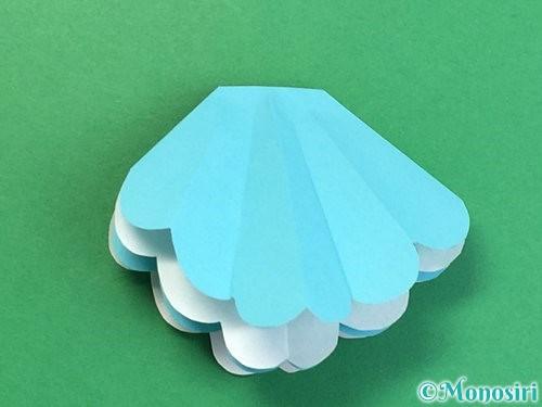 折り紙で貝の折り方手順15