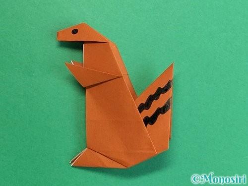 折り紙でリスの折り方手順43