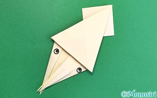 折り紙で折ったイカ
