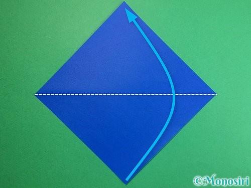 折り紙でペンギンの折り方手順1