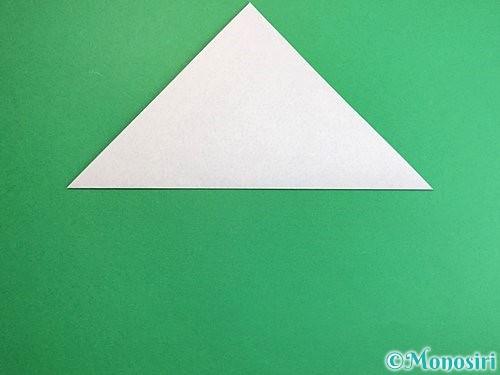折り紙でペンギンの折り方手順2
