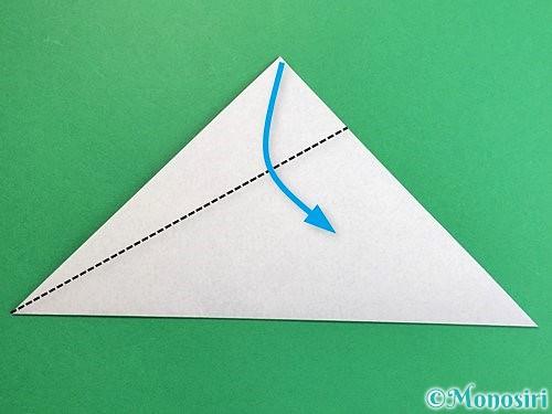折り紙でペンギンの折り方手順3