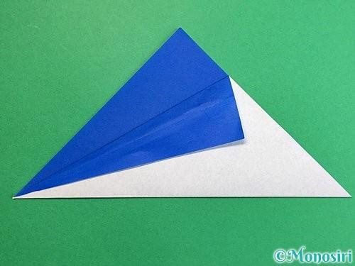 折り紙でペンギンの折り方手順4