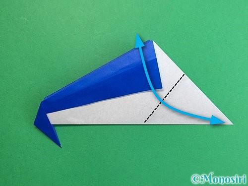折り紙でペンギンの折り方手順12