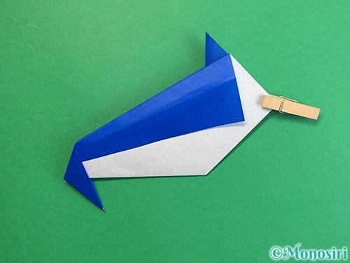 折り紙でペンギンの折り方手順17