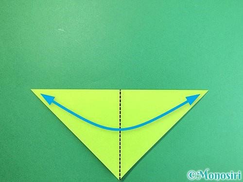 折り紙で亀の折り方手順3
