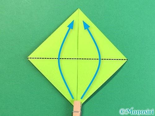 折り紙で亀の折り方手順7