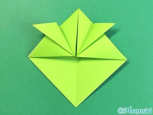 折り紙で亀の折り方手順10