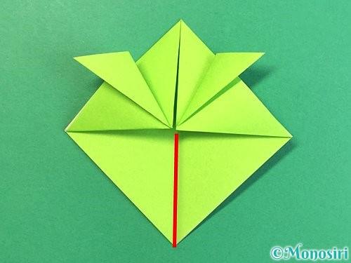 折り紙で亀の折り方手順11