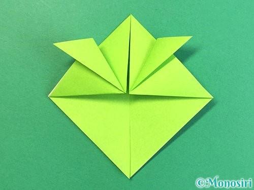折り紙で亀の折り方手順12