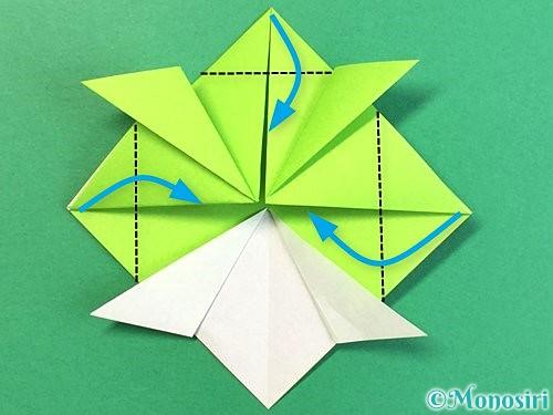 折り紙で亀の折り方手順15