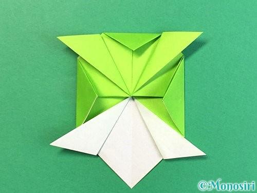 折り紙で亀の折り方手順16