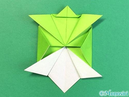 折り紙で亀の折り方手順18