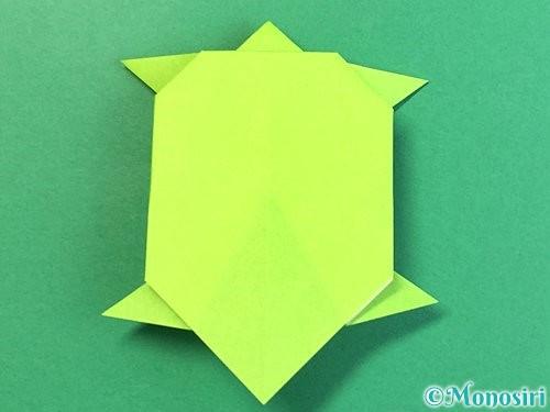 折り紙で亀の折り方手順19