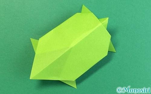折り紙で折った亀