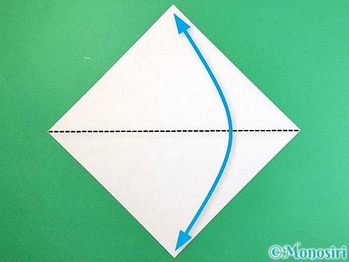折り紙でエビの折り方手順1