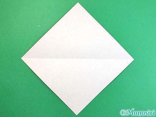 折り紙でエビの折り方手順2