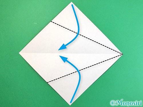 折り紙でエビの折り方手順3