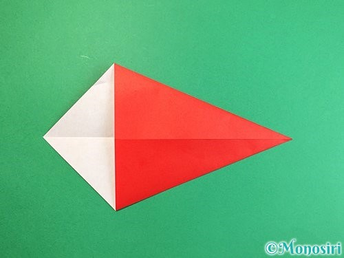 折り紙でエビの折り方手順4