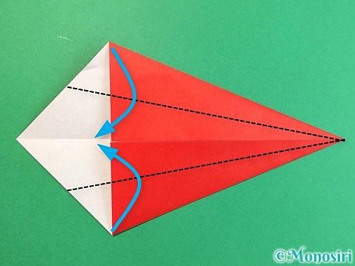 折り紙でエビの折り方手順5