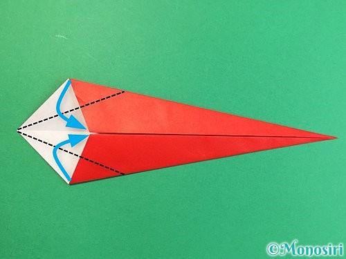 折り紙でエビの折り方手順7