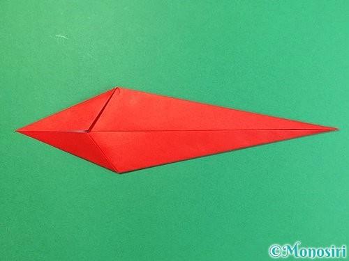 折り紙でエビの折り方手順8
