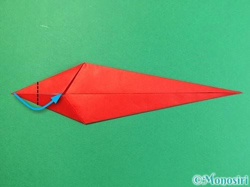 折り紙でエビの折り方手順9