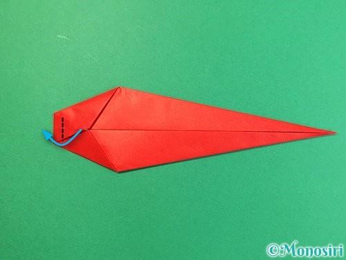 折り紙でエビの折り方手順11