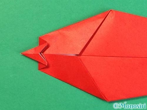 折り紙でエビの折り方手順14