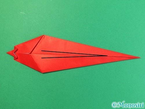 折り紙でエビの折り方手順15