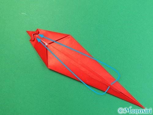 折り紙でエビの折り方手順17
