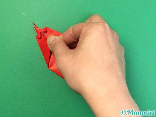 折り紙でエビの折り方手順18