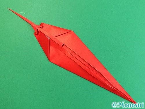 折り紙でエビの折り方手順19