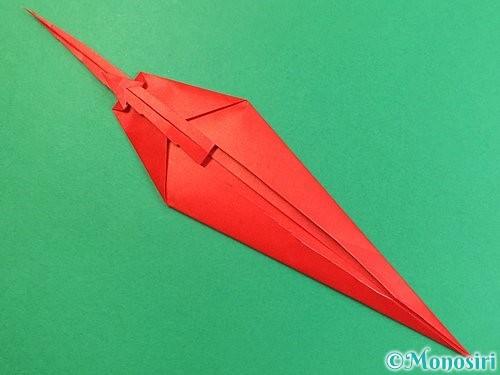 折り紙でエビの折り方手順20