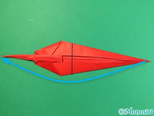折り紙でエビの折り方手順21