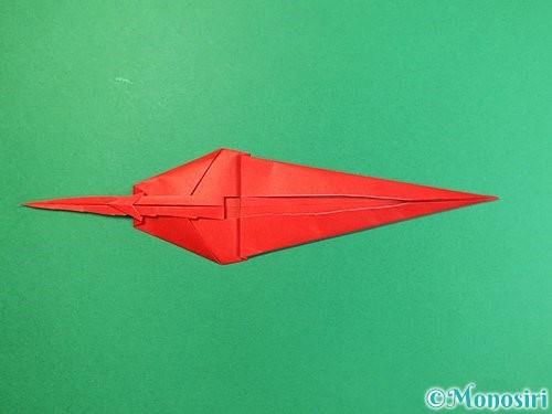 折り紙でエビの折り方手順24