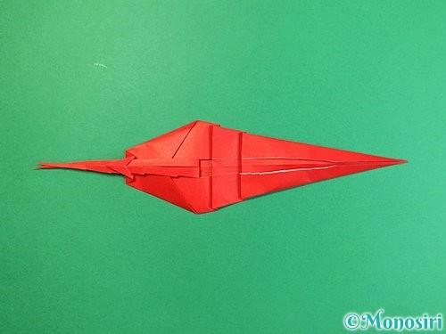 折り紙でエビの折り方手順25