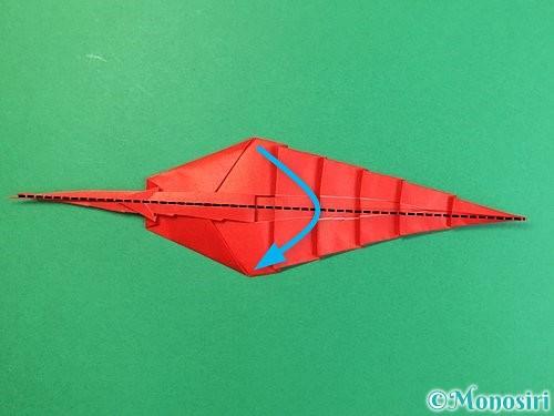 折り紙でエビの折り方手順27