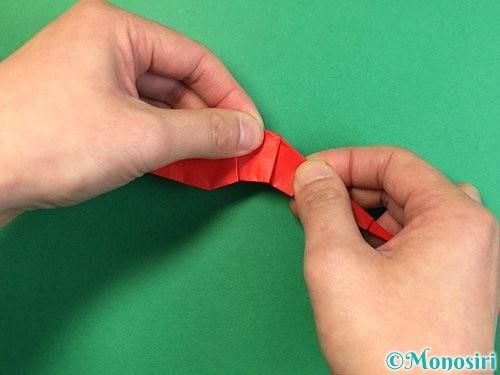 折り紙でエビの折り方手順32