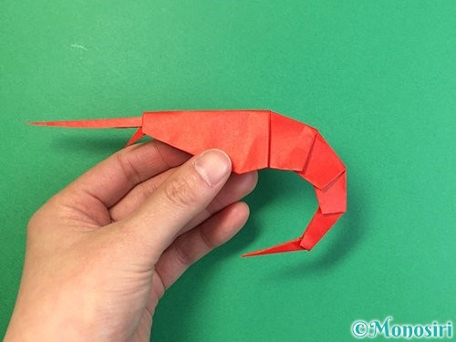折り紙でエビの折り方手順33