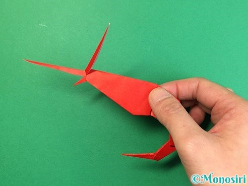 折り紙でエビの折り方手順35